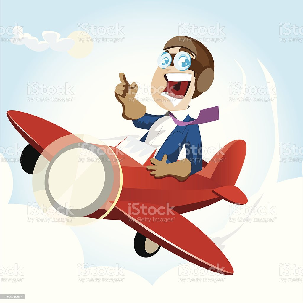 Business Pilot vector art illustration