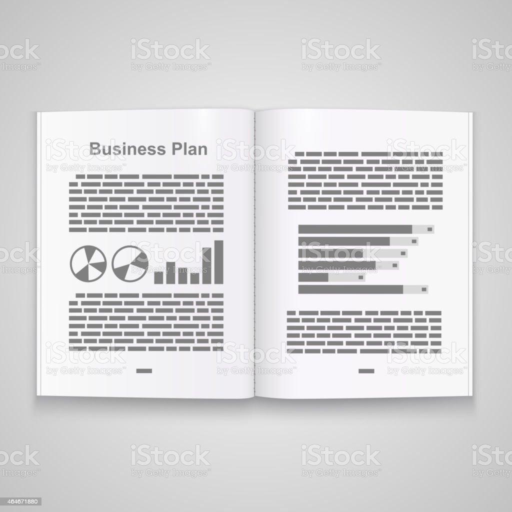 business plan book vector stock vector art 464671880 istock business plan book vector royalty stock vector art
