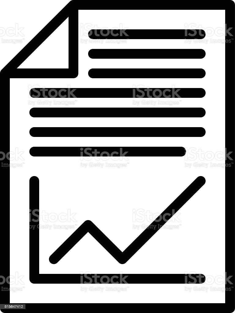 Business Plan Icon vector art illustration