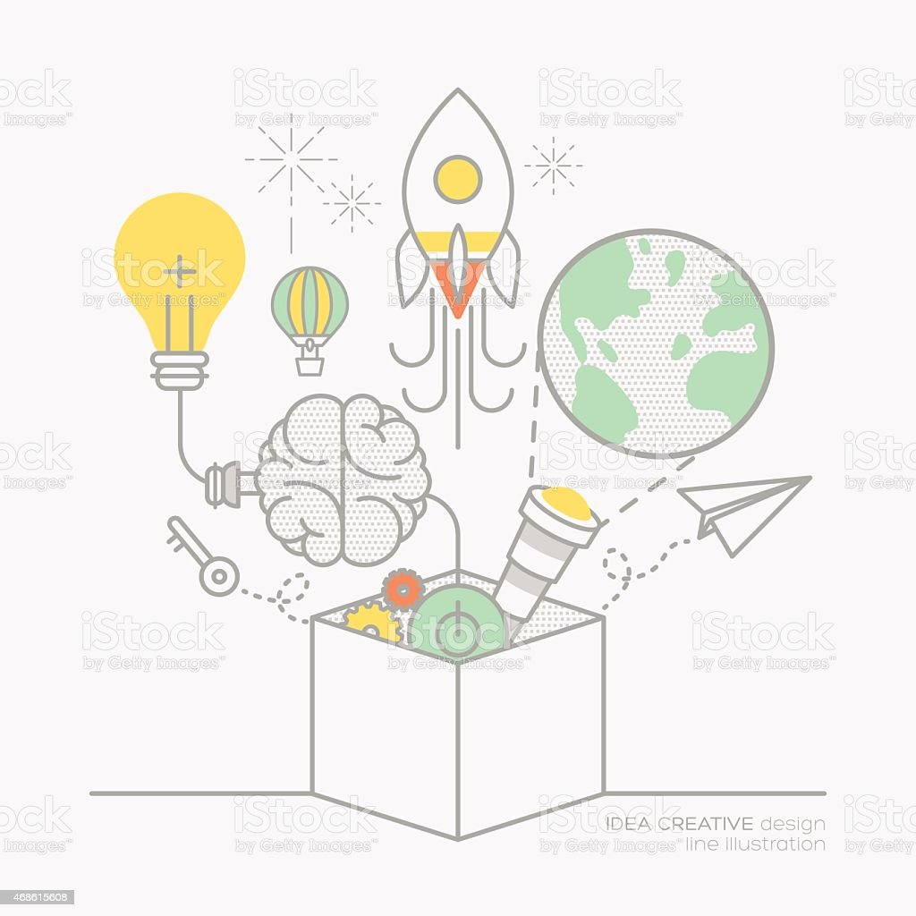 business plan idea concept outline icons illustration vector art illustration