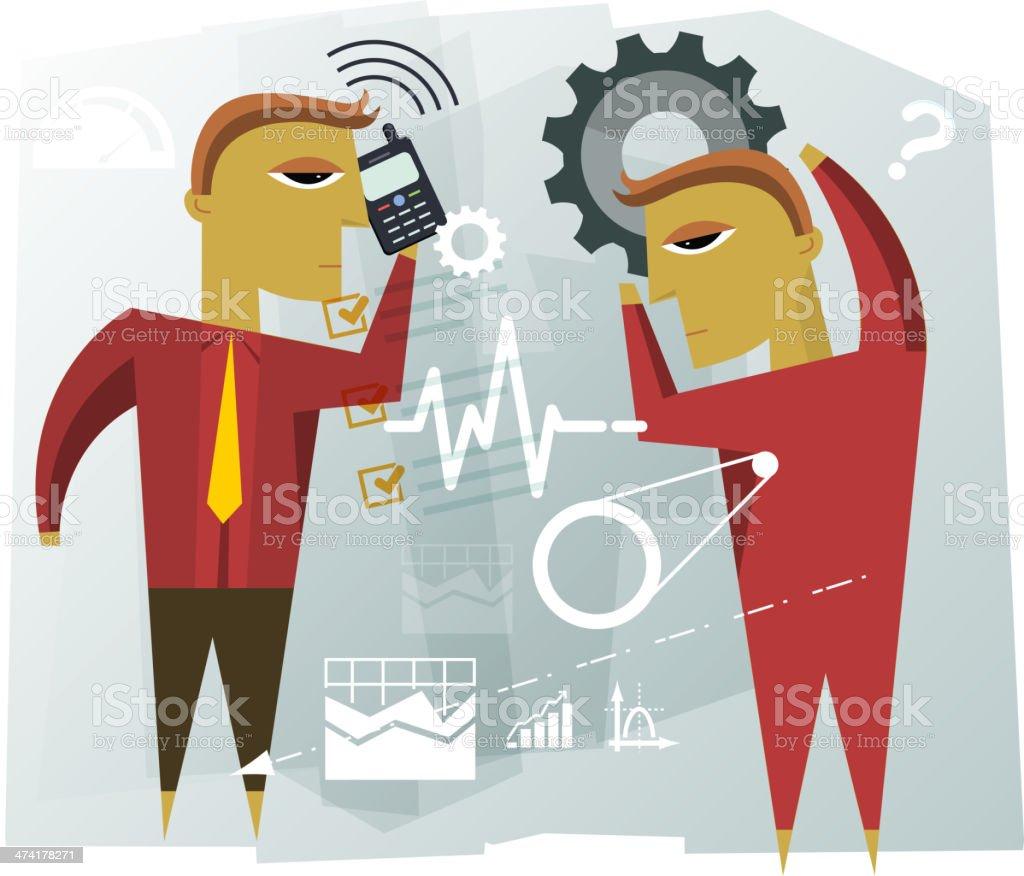 Business Planning Illustration royalty-free stock vector art