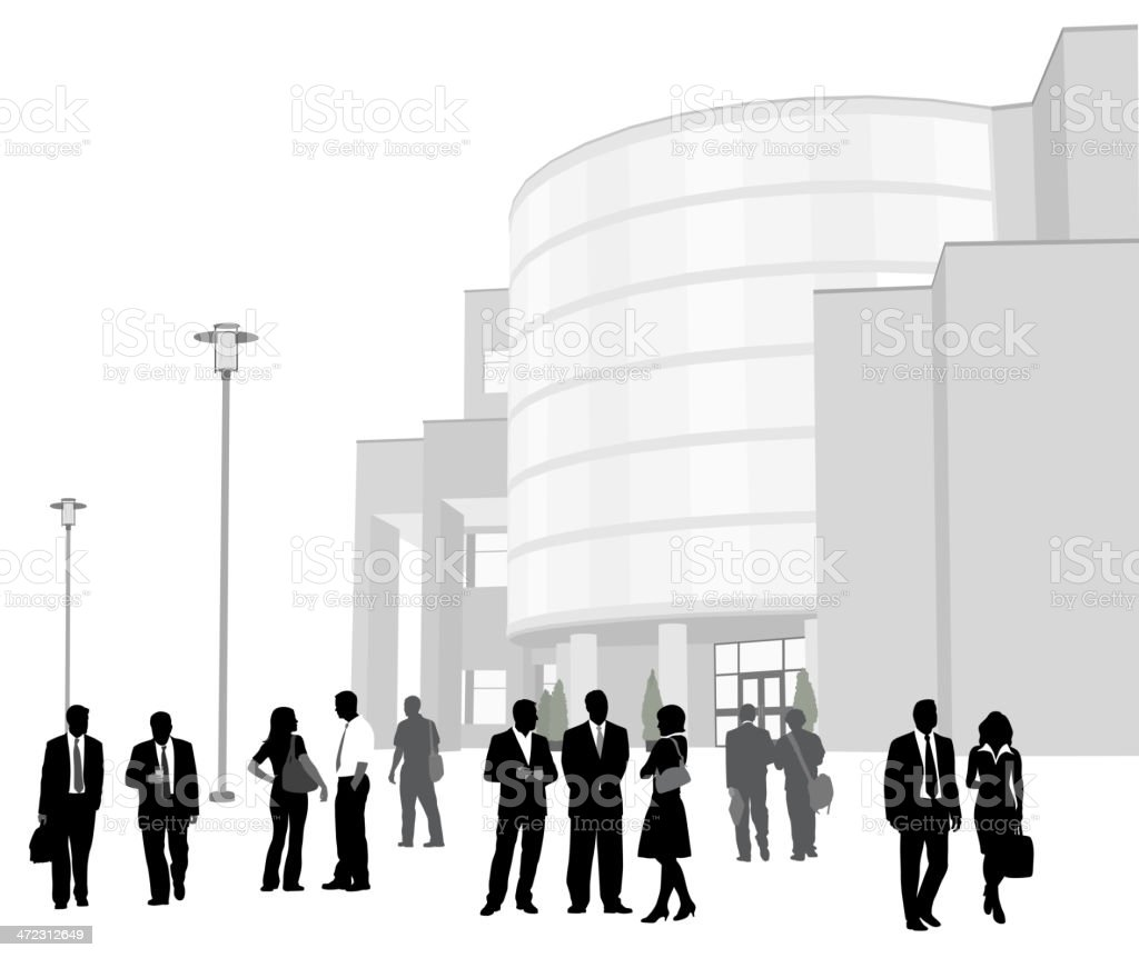 Business Plaza royalty-free stock vector art