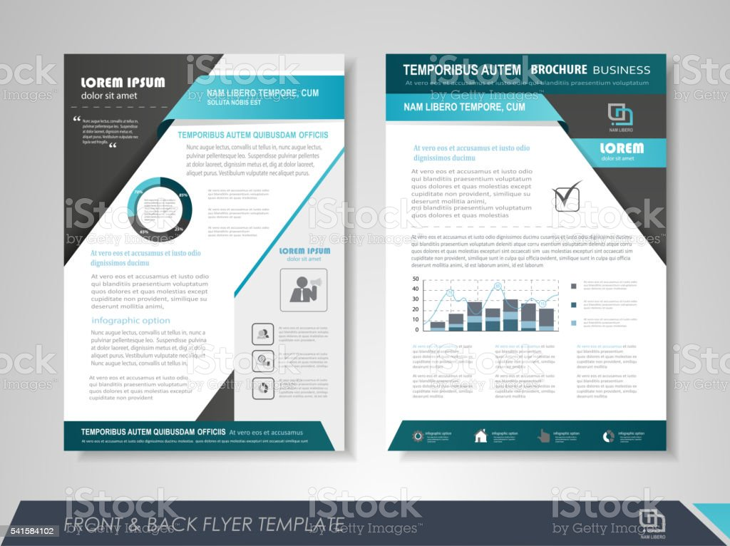 Business poster template vector art illustration