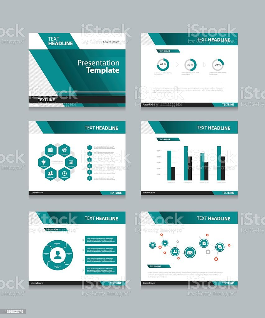 business presentation and powerpoint template slides background design vector art illustration