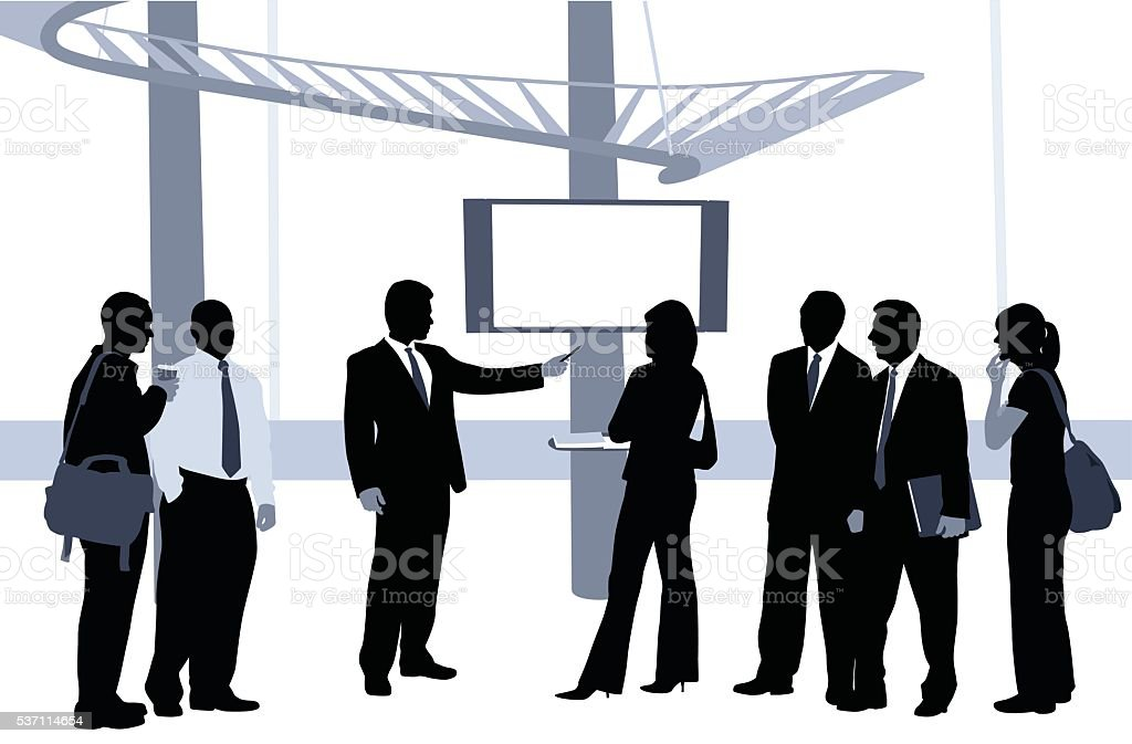 Business Presentation Blue vector art illustration