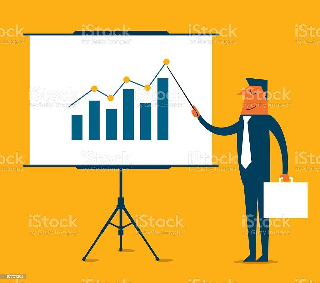 Business Presentation - Illustration vector art illustration
