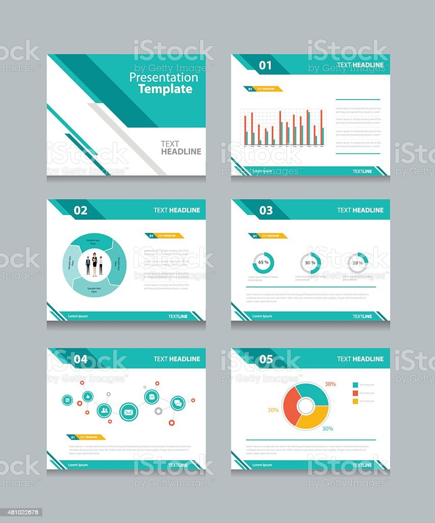 business presentation template set.powerpoint template design backgrounds vector art illustration