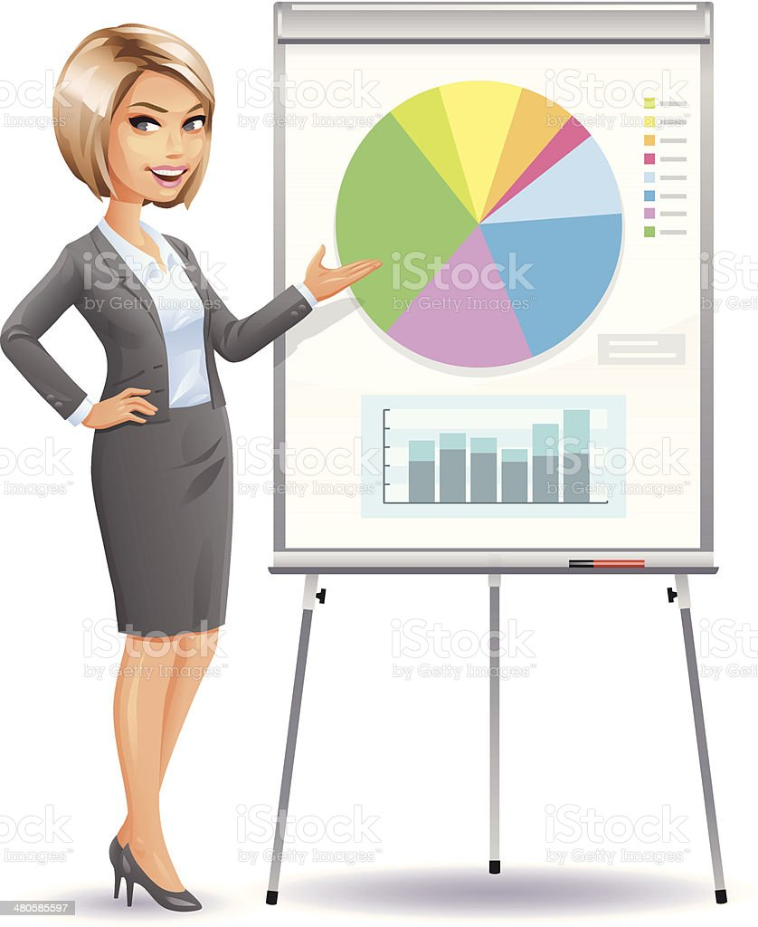 Business Presentation vector art illustration