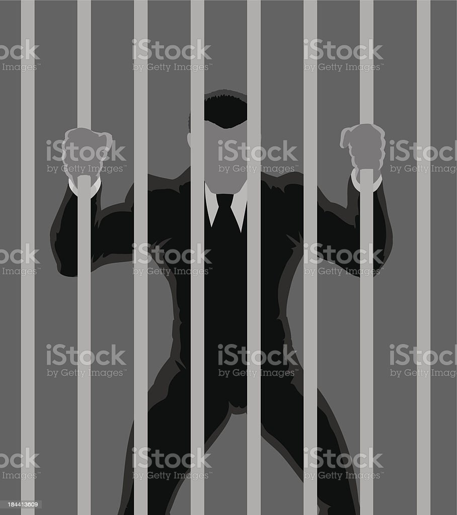 Business  Prisoner outline vector art illustration