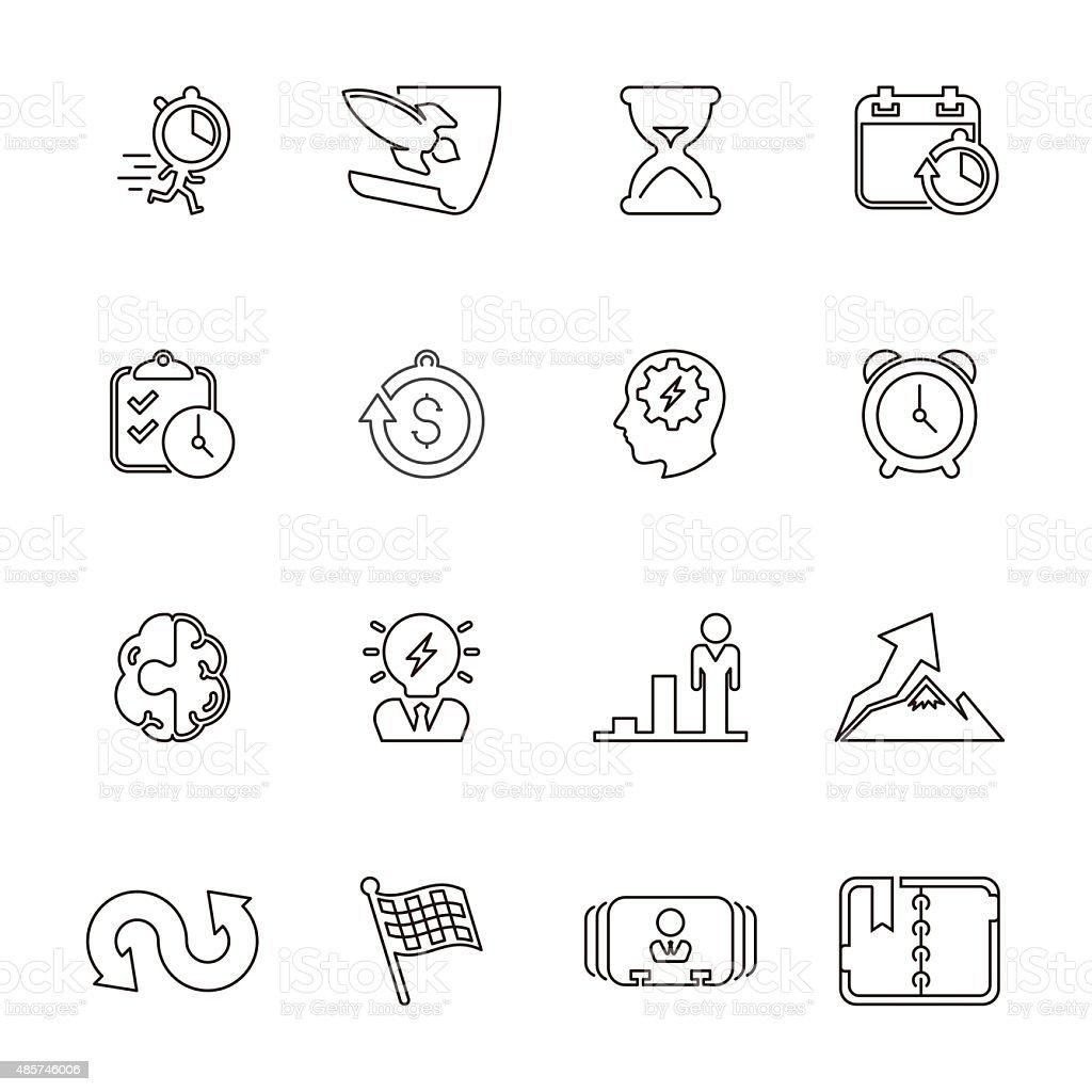 Business productive & efficiency Icon Set | Line Series vector art illustration
