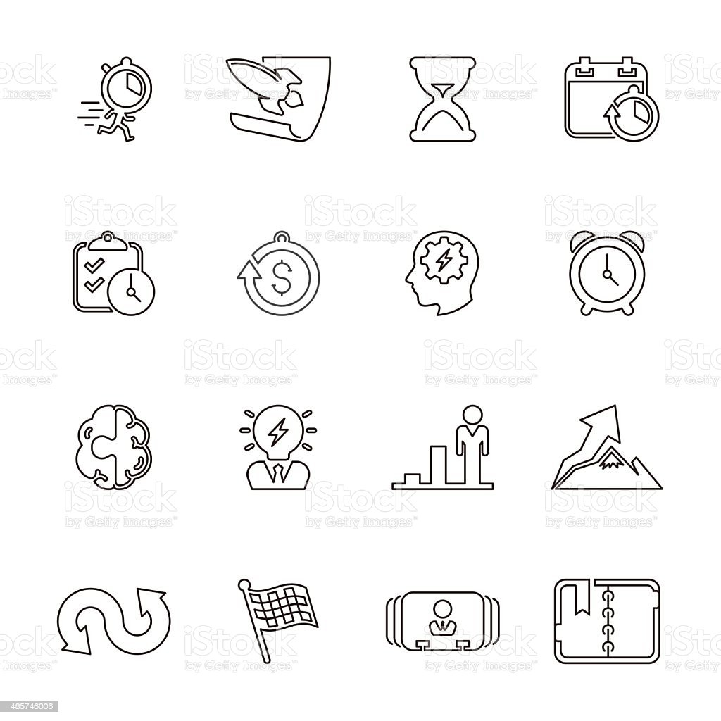 Business productive & efficiency Icon Set | Line Series vector art illustration