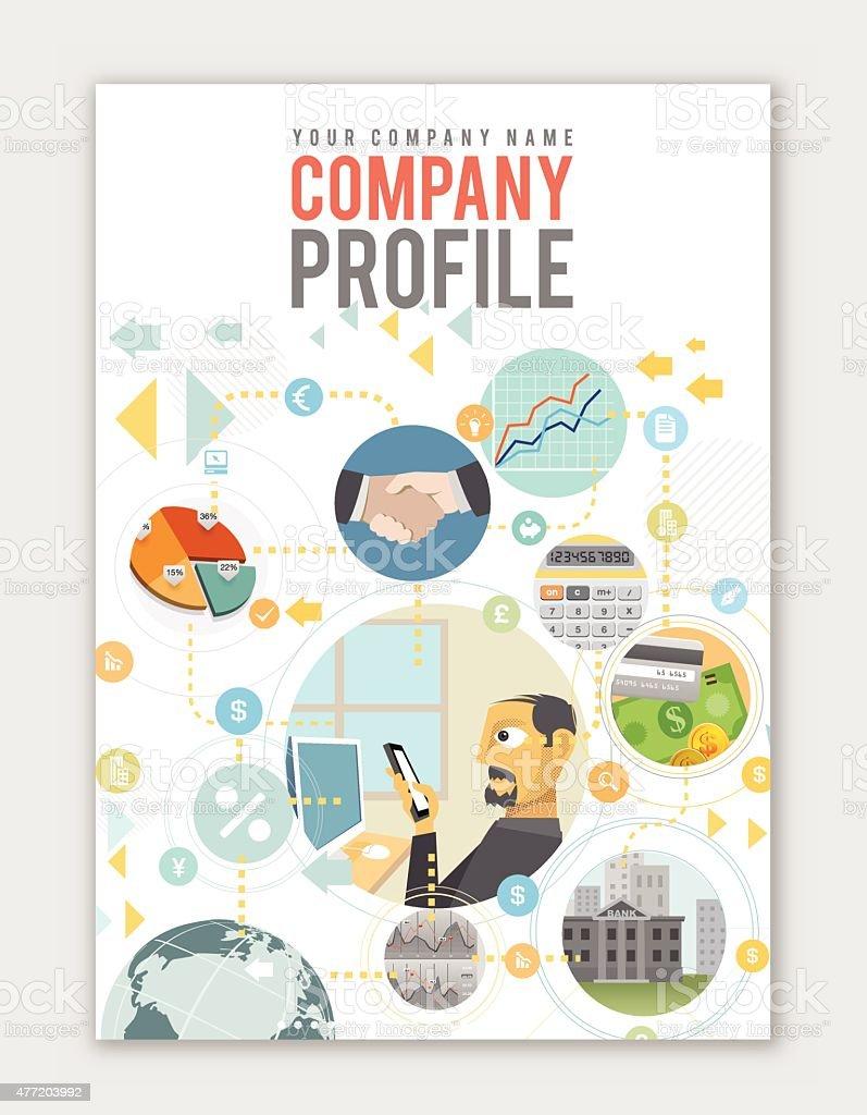 Business profile template vector art illustration