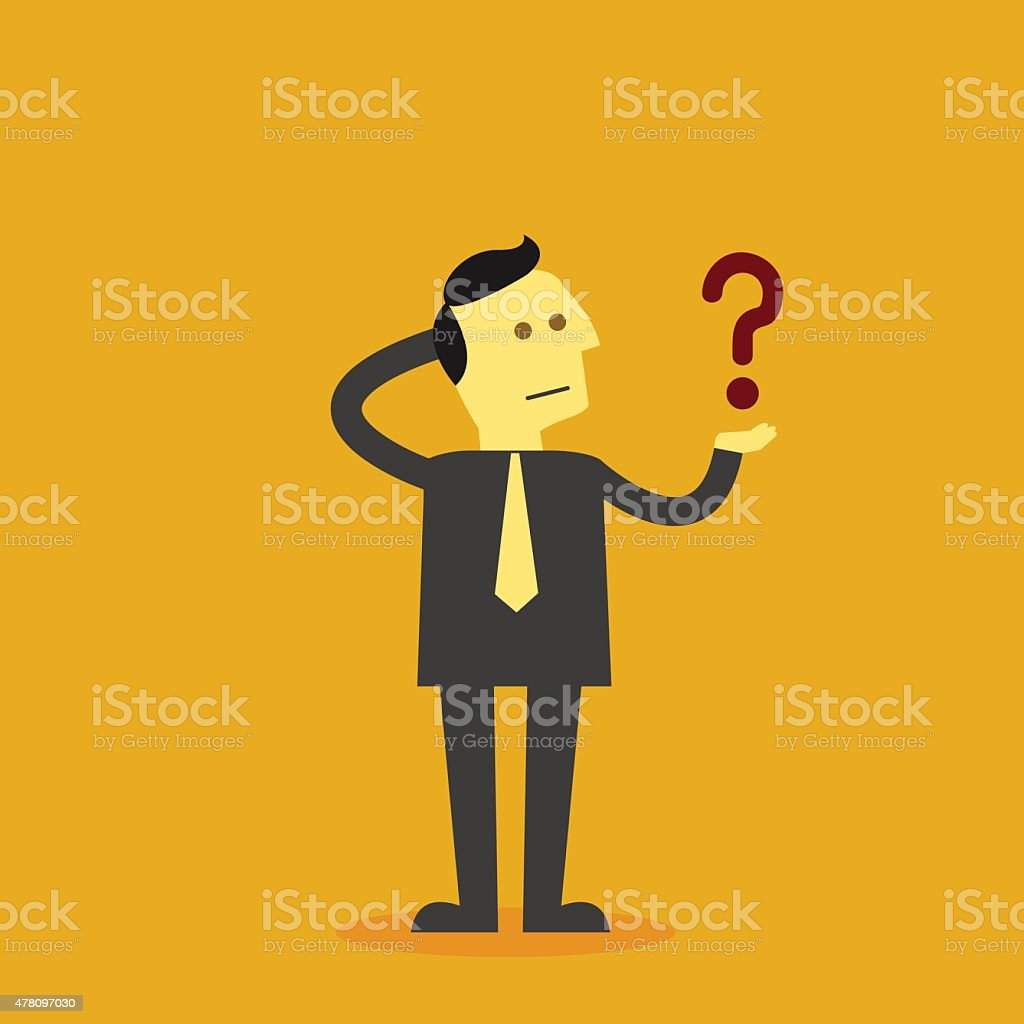 business question vector art illustration