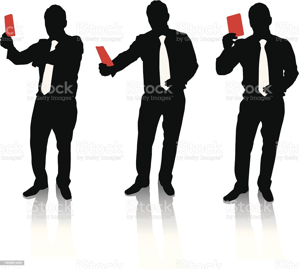 business Referee vector art illustration