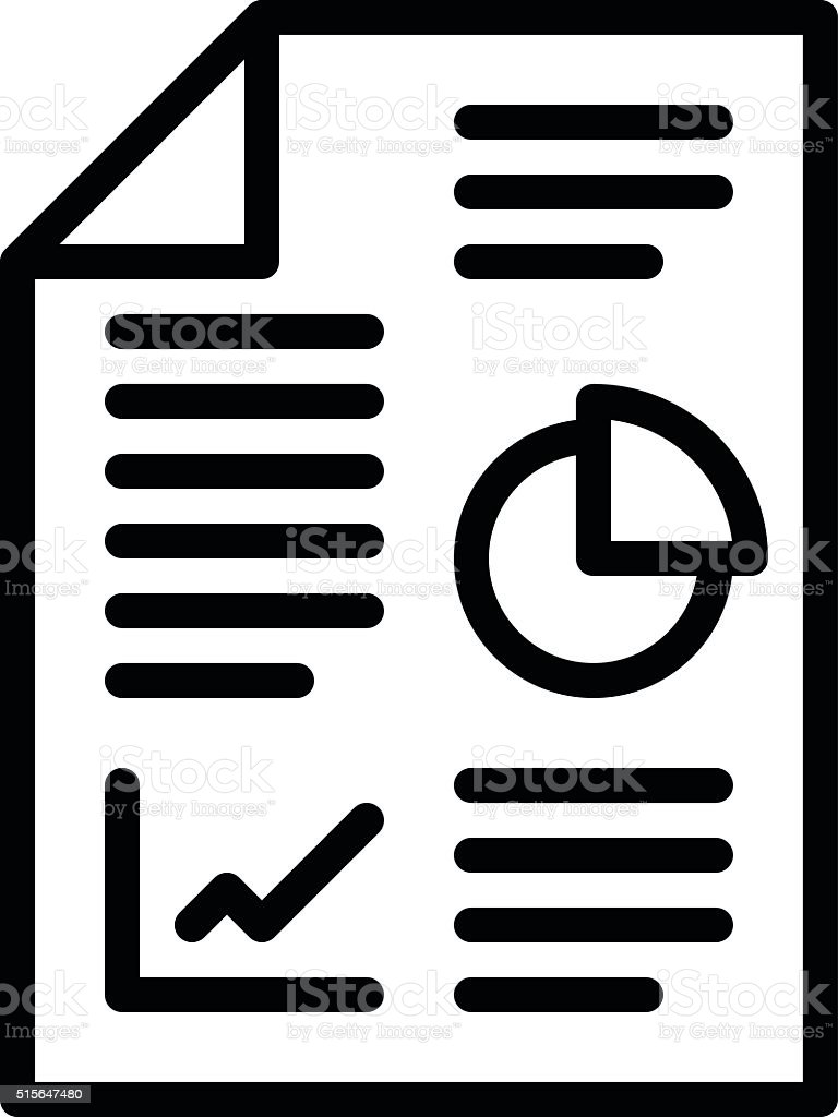 Business Report Icon stock vector art 515647480 | iStock