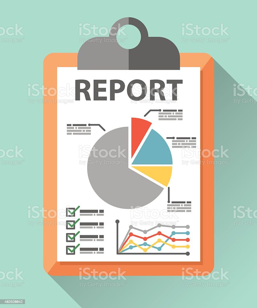 Business report paper vector art illustration