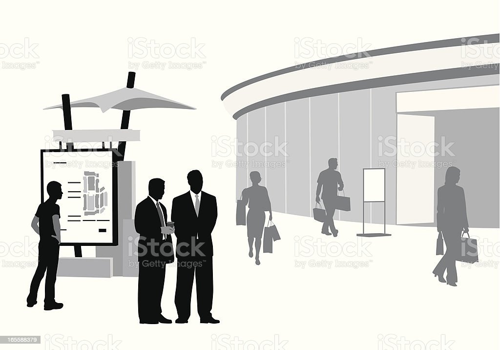 Business Retail Vector Silhouette royalty-free stock vector art