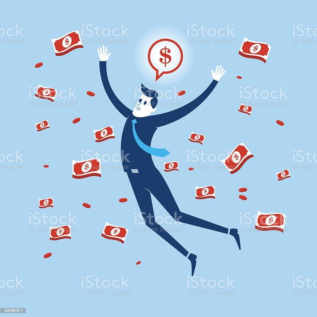 Business Rich vector art illustration