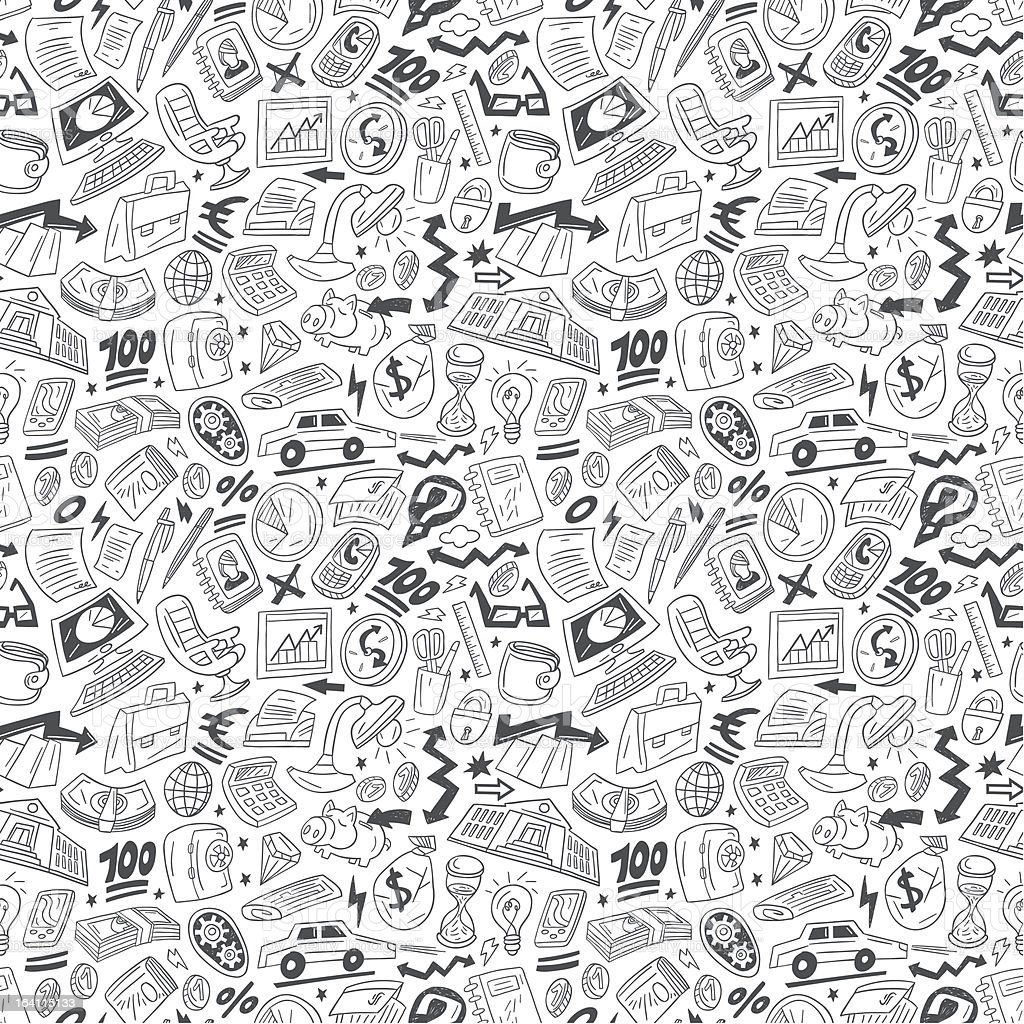 Business - seamless vector pattern royalty-free stock vector art