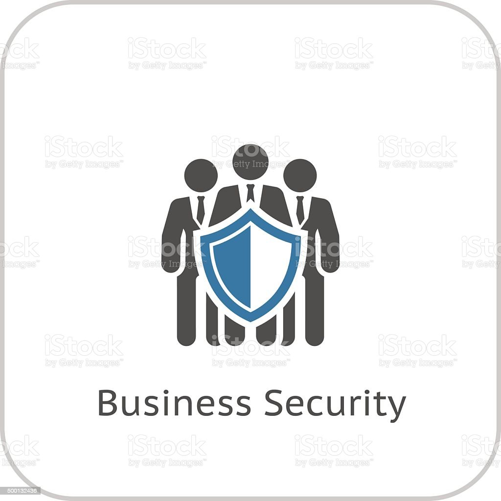 Business Security Icon. Flat Design. vector art illustration