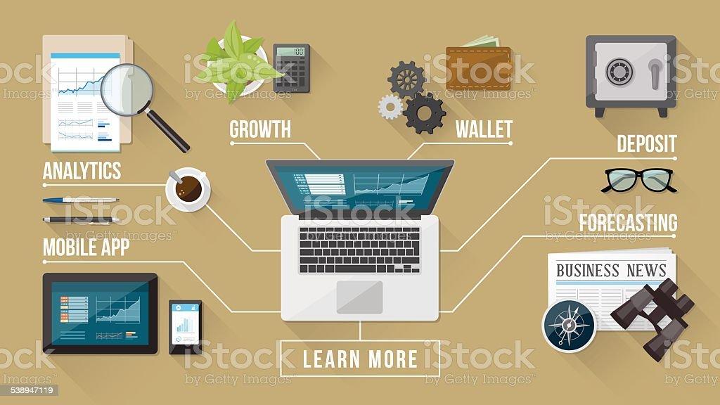 Business services vector art illustration