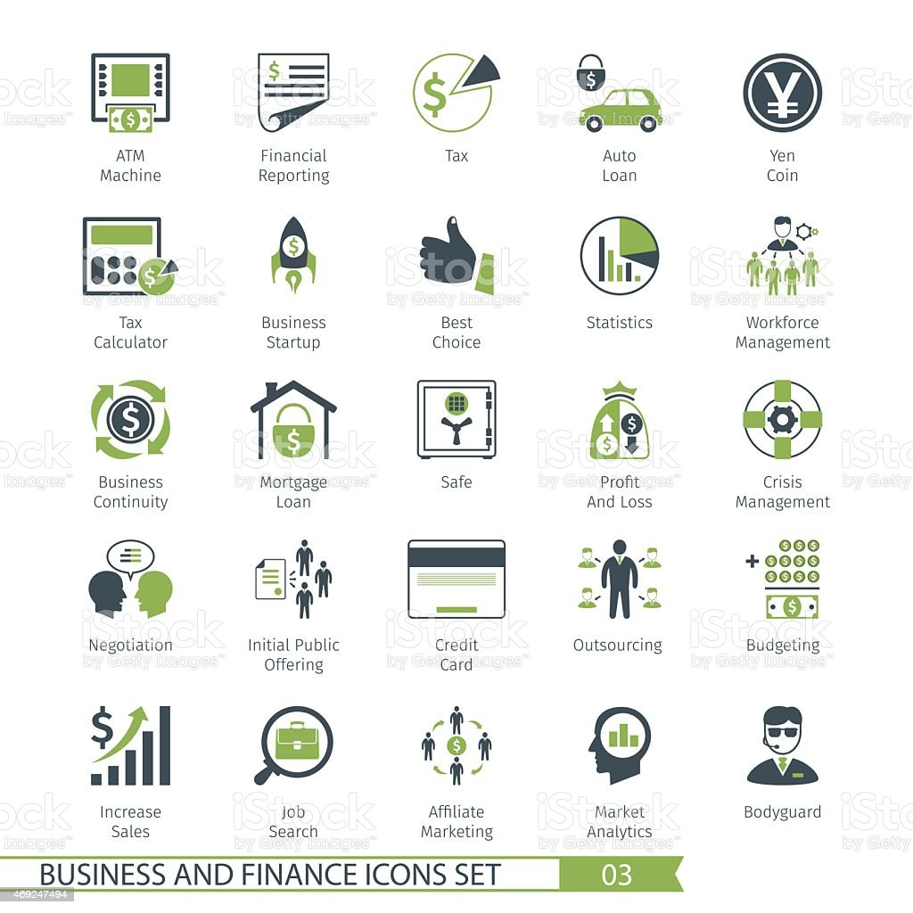 Business Set 03 vector art illustration