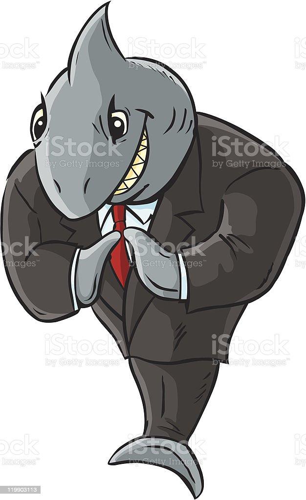 Business Shark royalty-free stock vector art