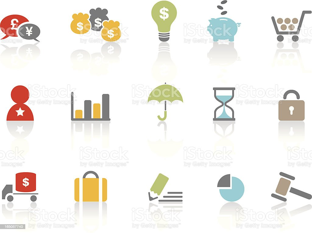 Business Shopping Symbols   Colour royalty-free stock vector art