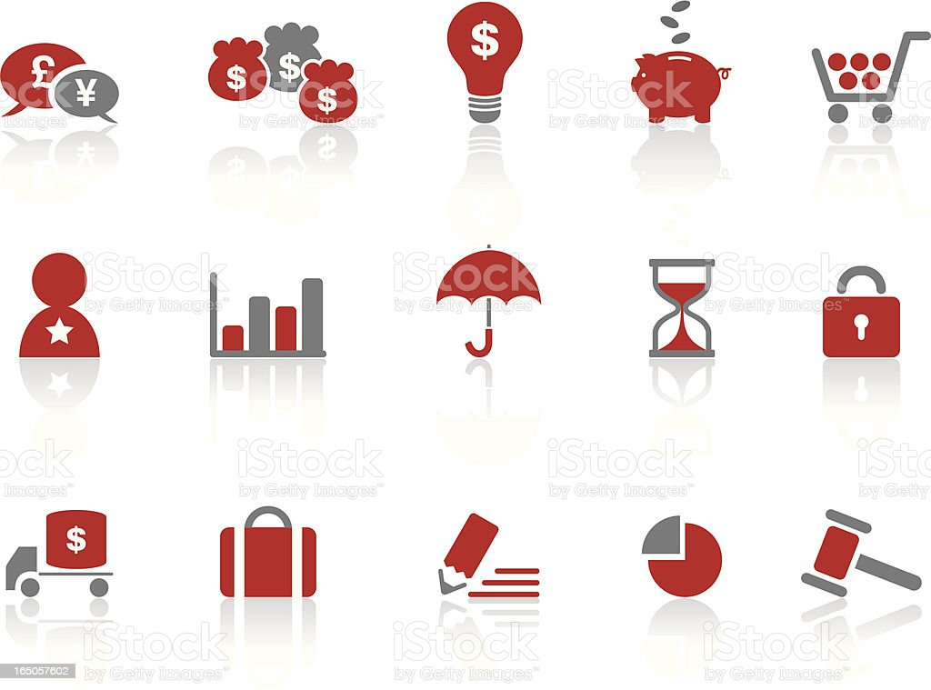 Business Shopping Symbols   Ruby royalty-free stock vector art