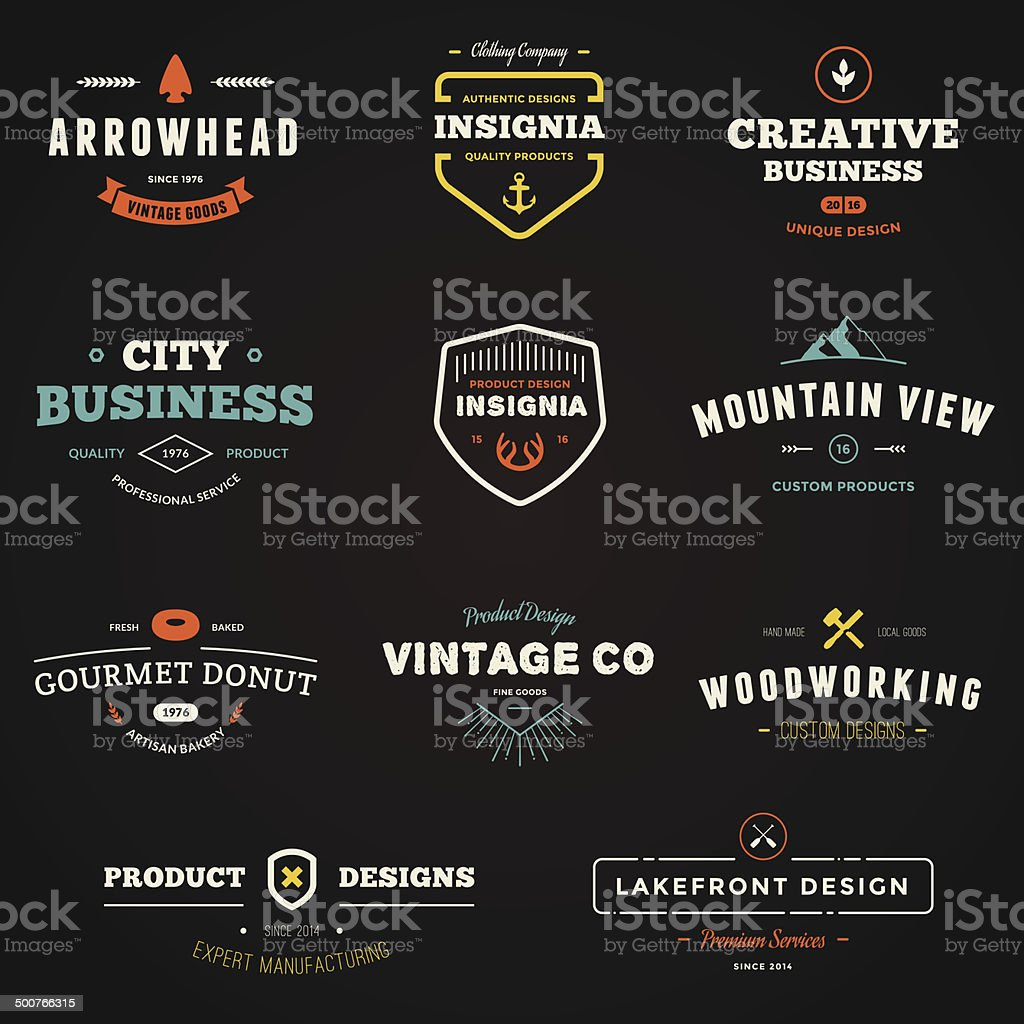 Business sign graphics vector art illustration
