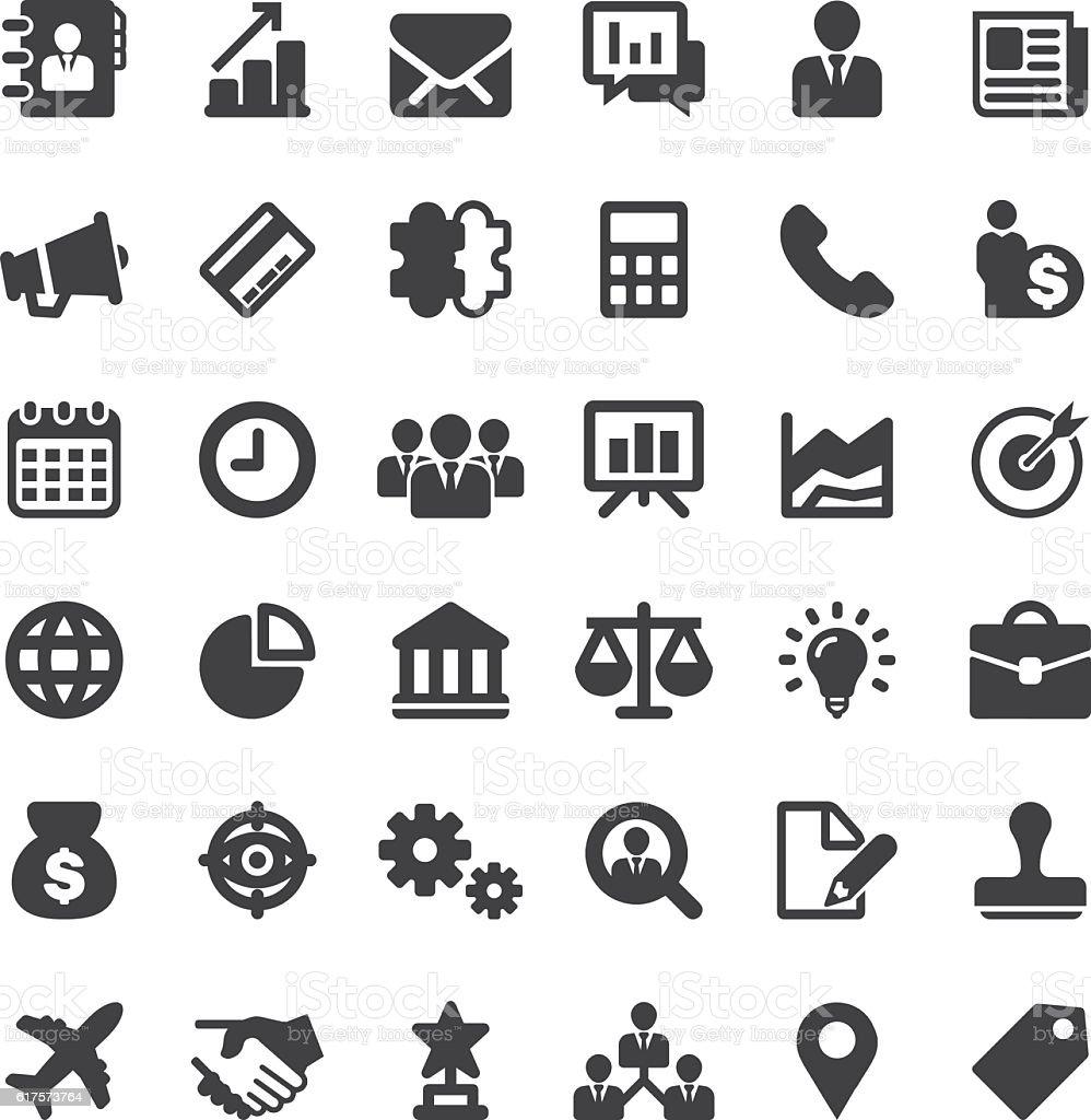 Business Silhouette 36 Icons EPS10 vector art illustration