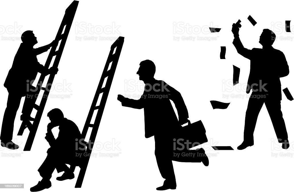 business silhouette concepts royalty-free stock vector art