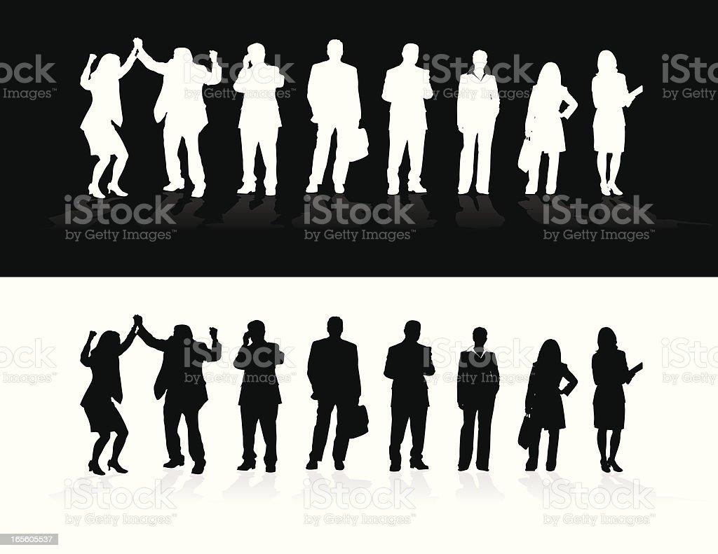 Business Silhouettes vector art illustration