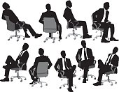Business sitting on chair