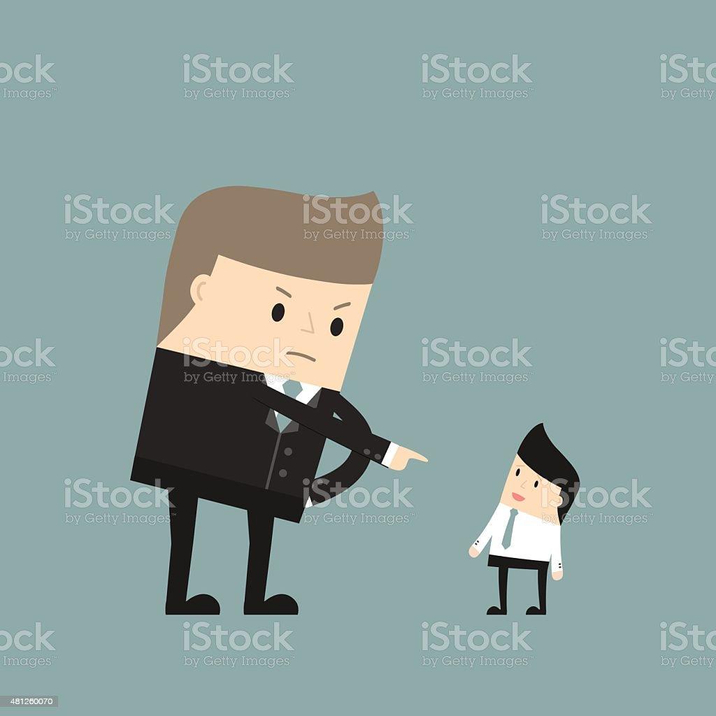 Business situation vector art illustration