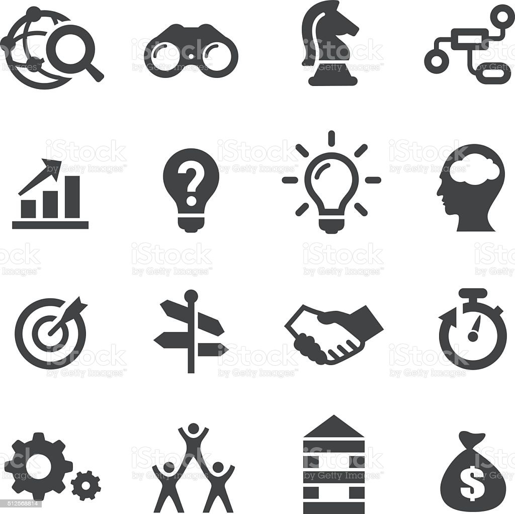Business Solution Icons - Acme Series royalty-free stock vector art