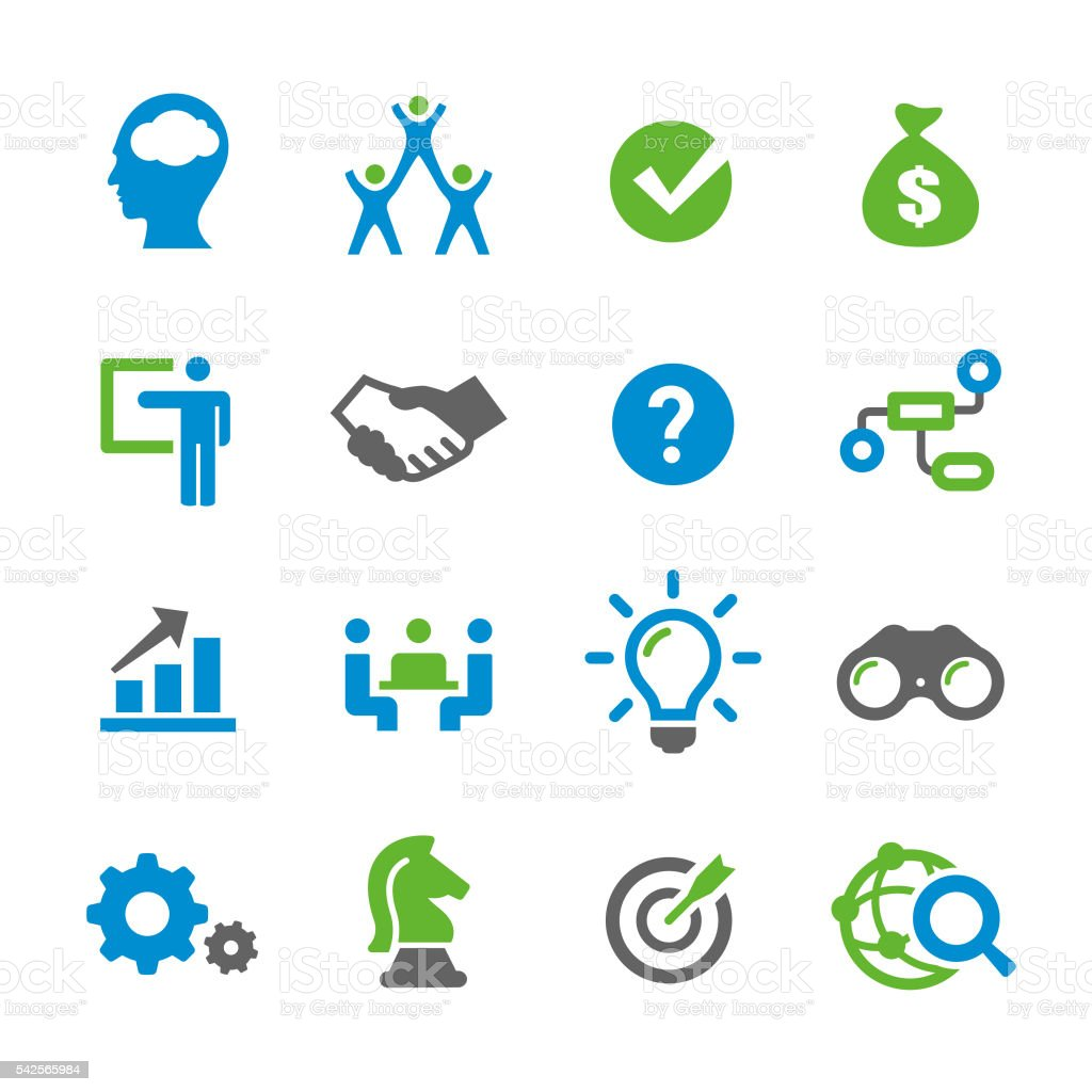 Business Solution Icons - Spry Series vector art illustration