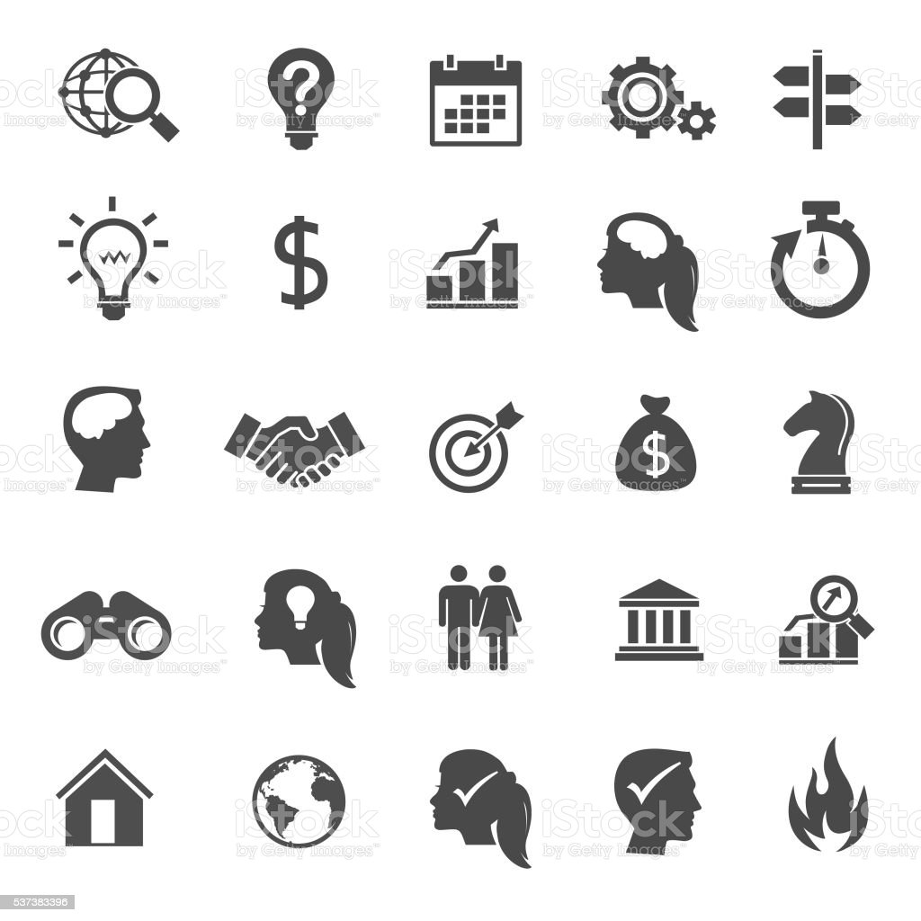 Business Solution Icons vector art illustration