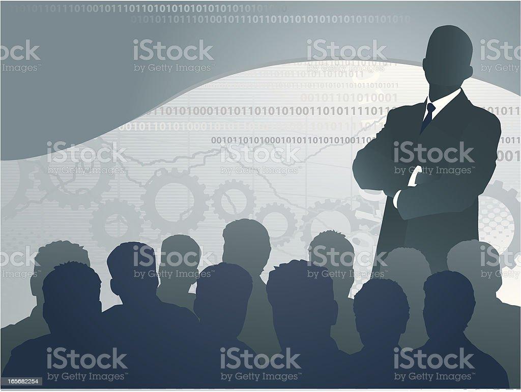 Business Speech royalty-free stock vector art