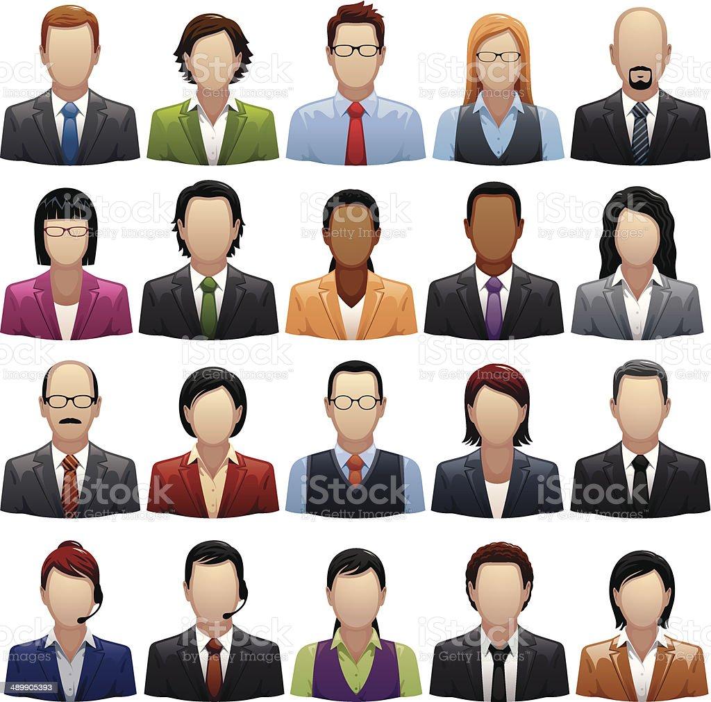 Business Staff vector art illustration