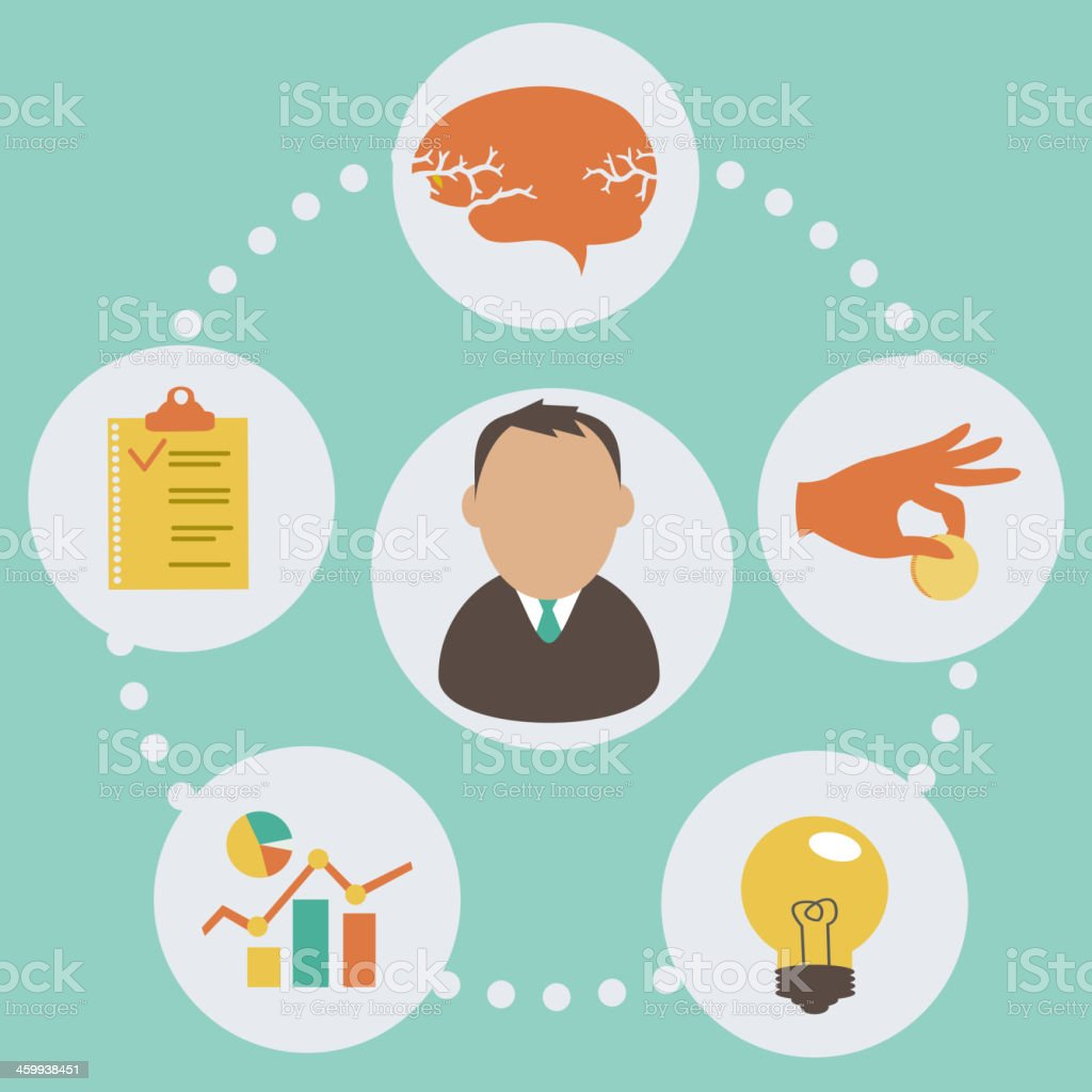 business start up concept vector art illustration