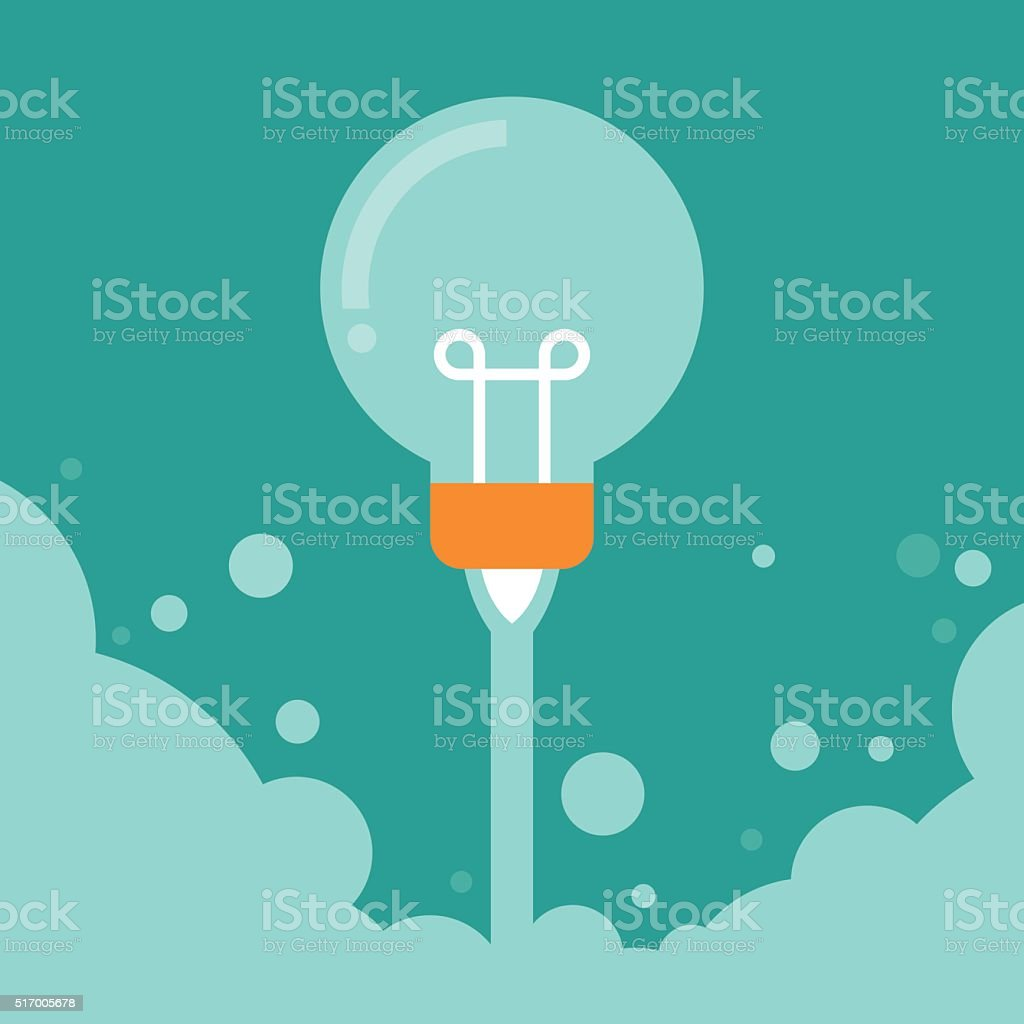 Business Start up launch concept vector art illustration