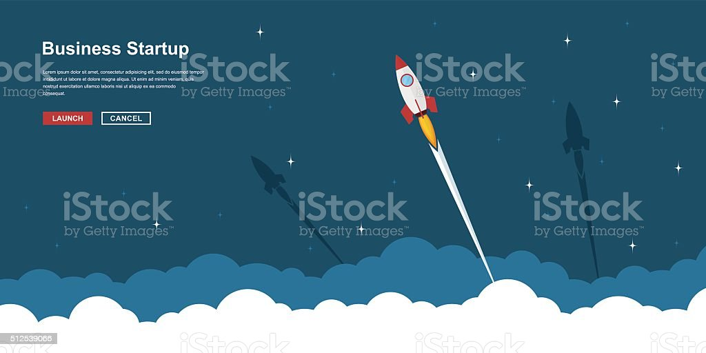 business startup banner vector art illustration