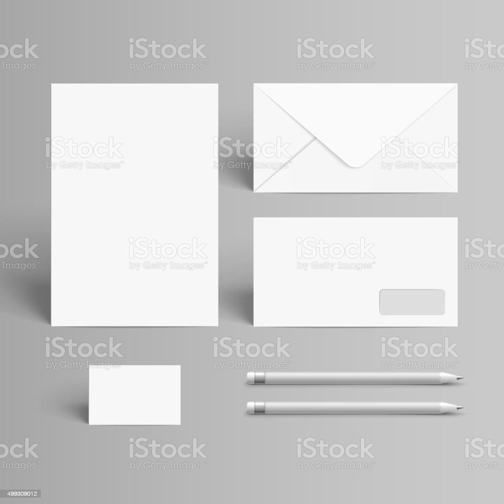 business stationery set vector art illustration