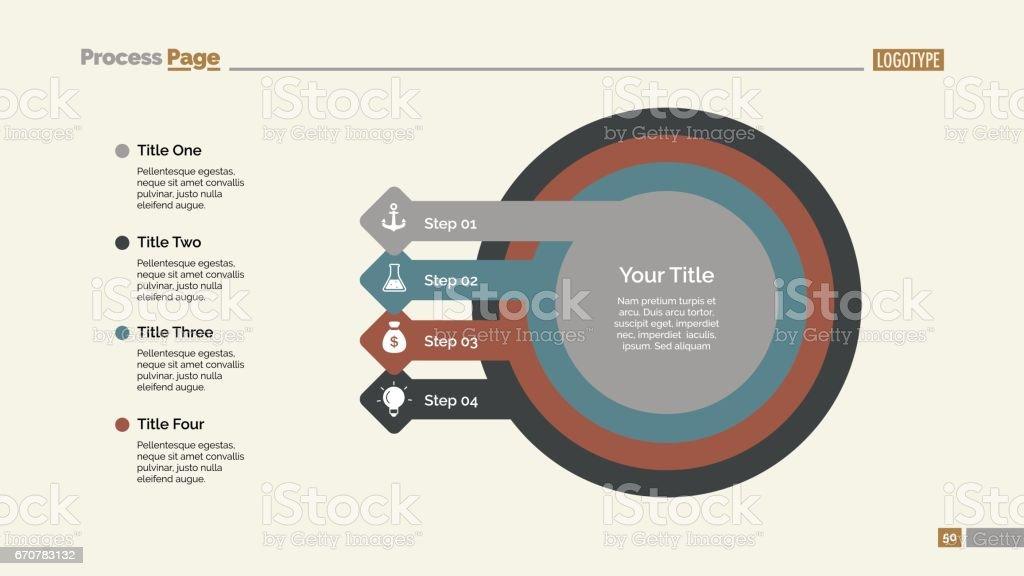 Business Step Diagram Slide Template vector art illustration