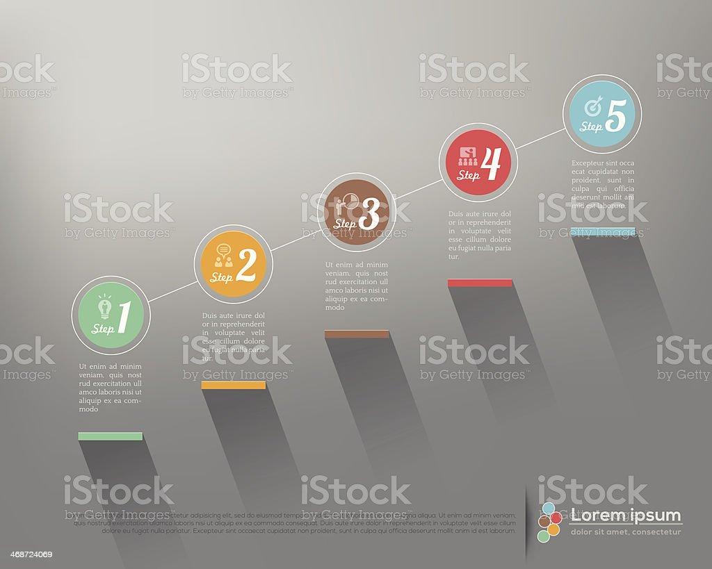 Business steps illustration vector art illustration