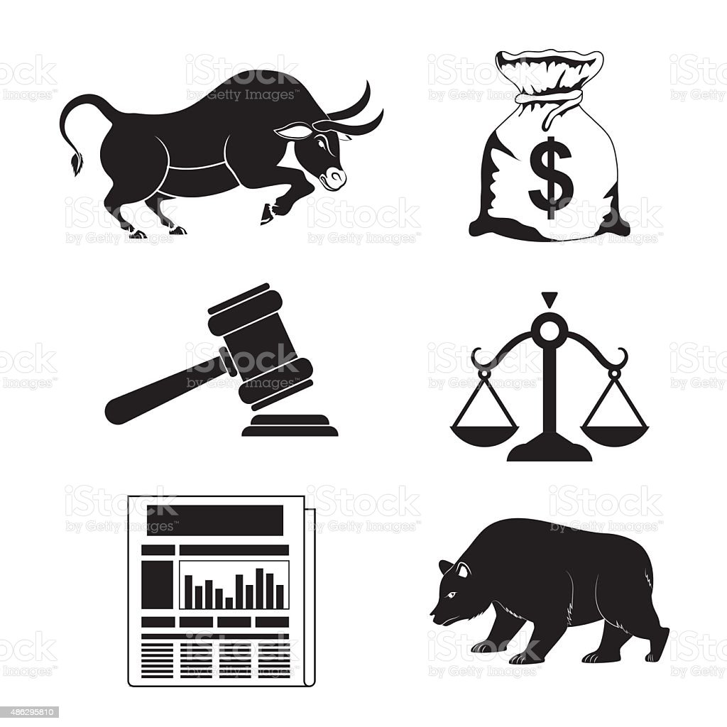 Business stock exchange. vector art illustration