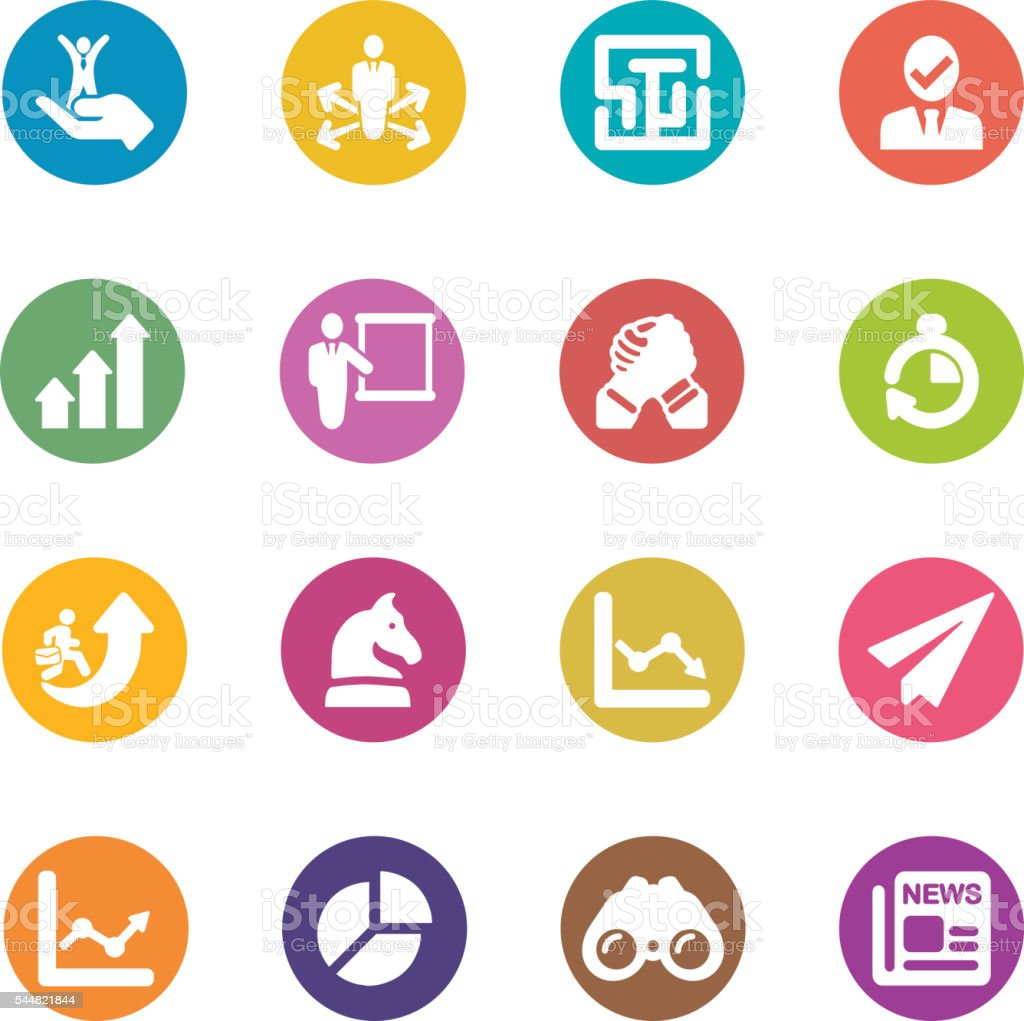 Business Strategy Circle Colour Harmony icons | EPS10 vector art illustration