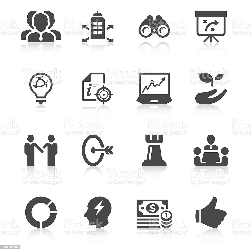 Business Strategy Icon Set   Unique Series royalty-free stock vector art