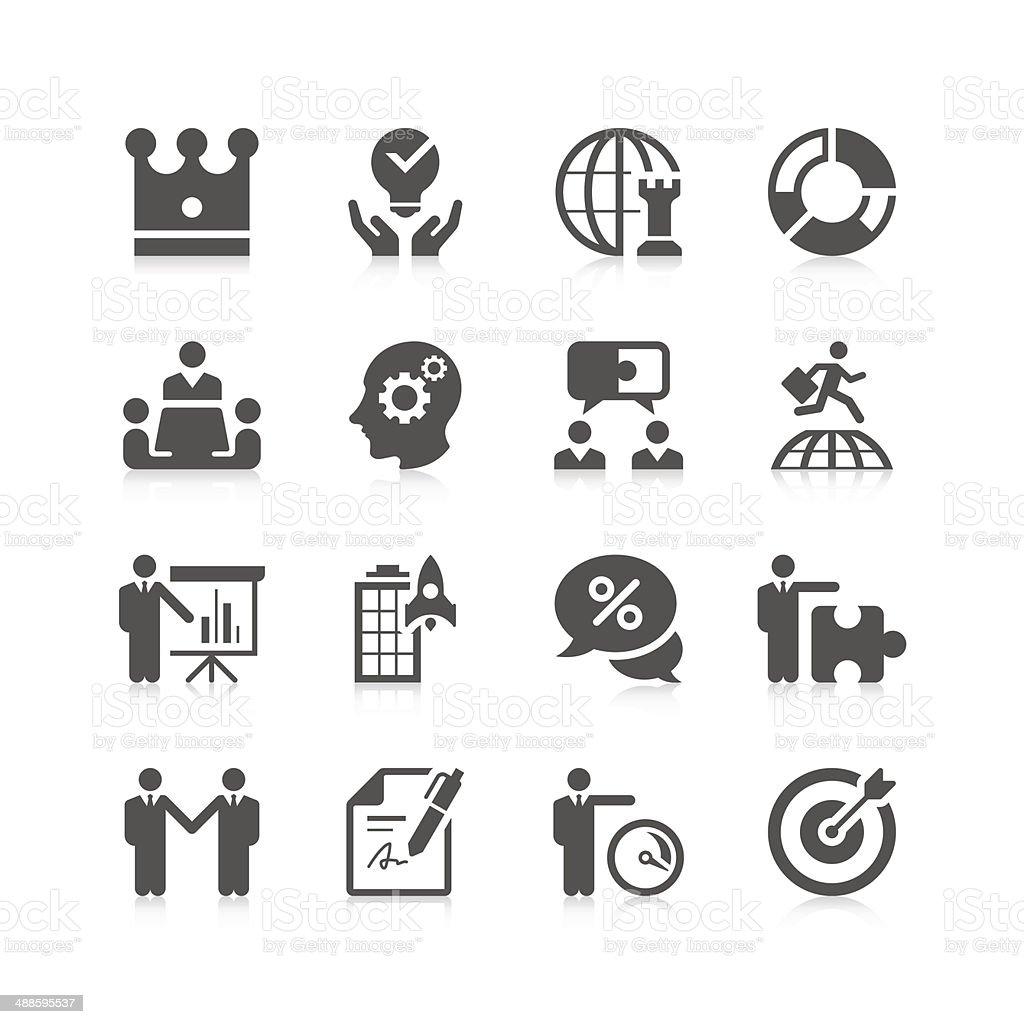 Business & strategy Icon Set | Unique Series vector art illustration